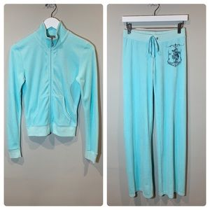 Juicy Couture Turquoise Velour Tracksuit